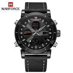 NAVIFORCE Luxury Men's LED Analog Quartz Watch Men Army Military Sport Watches Male Waterproof Date Wristwatch Relogio Masculino