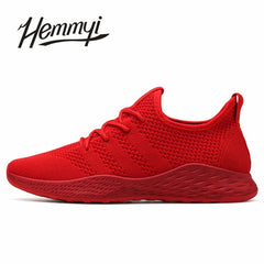 Breathable Men Sneakers Male Shoes Adult Red Black Gray High Quality Comfortable Non-slip Soft Mesh Men Shoes 2018 Summer New