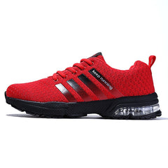 Men Shoes 2018 Summer Fashion Breathable Network Men Casual Shoes Lace up High Quality Flat Mesh Sneakers Plus Size 35-48