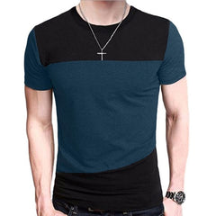 Harajuku Stitching Clothes Streetwear Men funny t shirts Loose tshirt casual Tee Tops Men Short Sleeve men clothes 2018 TX116-E