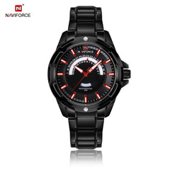 NAVIFORCE Fashion Business Watch Mens Watches Top Famous Brand Luxury Steel Band Wristwatch Quartz Male Clock Erkek Kol Saati