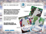 2019 Bowman Draft Super Jumbo Baseball Hobby Box