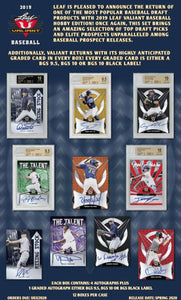 2019 Leaf Valiant Baseball Hobby Box