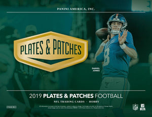 2019 Panini Plates and Patches Football Box Break #2