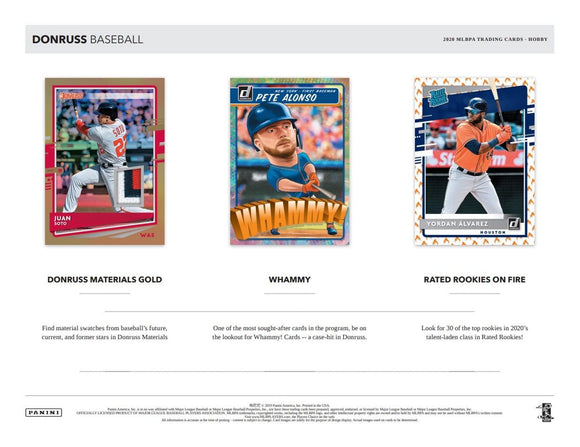 2020 Donruss Baseball Hobby Box