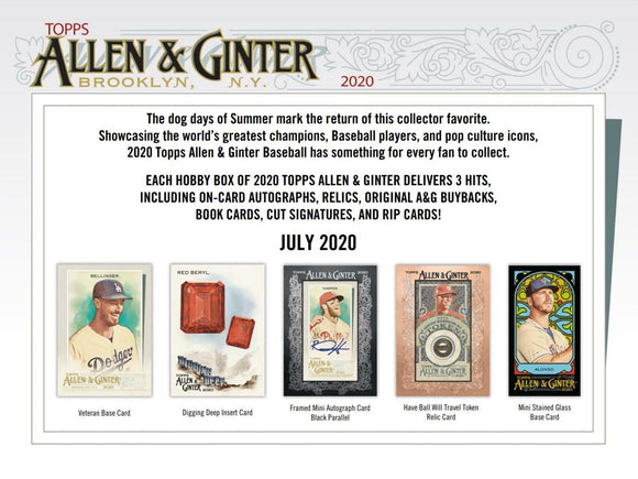 2020 Topps Allen & Ginter Baseball Hobby Box
