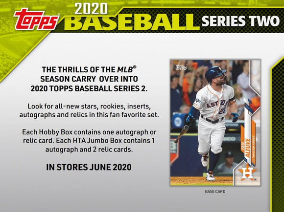 2020 Topps Series 2 Hobby Box Baseball