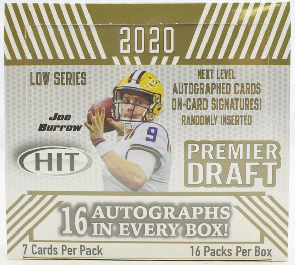2020 Sage Hit Low Series Football Hobby Box