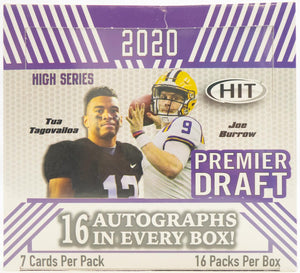2020 Sage Hit High Series Football Hobby Box