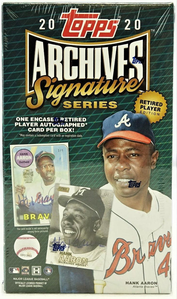 2020 Topps Archives Retired Signature Baseball Hobby Box