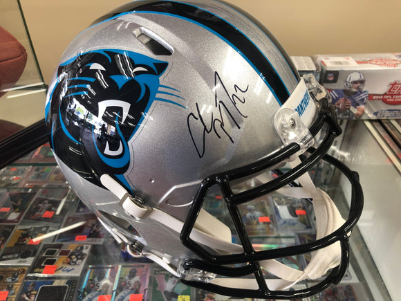 Christian McCaffrey Signed Full Size Authentic Football Helmet Fanatics COA