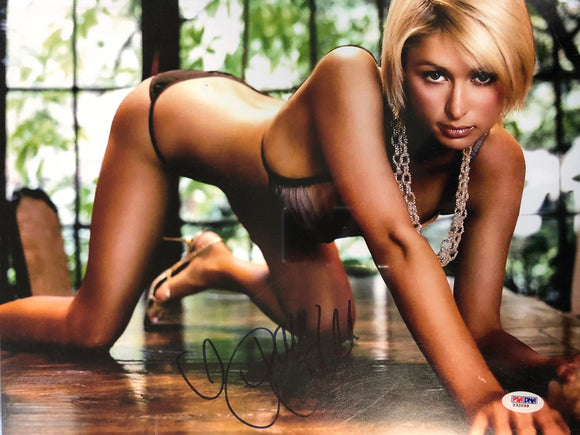 Paris Hilton Signed 16x20 Photo JSA COA