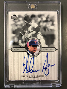 Nolan Ryan 2000 Upper Deck Legendary Signatures Autograph