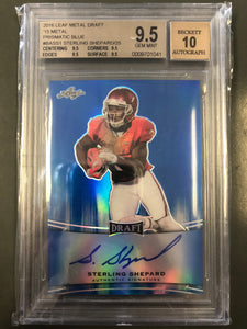Sterling Shepard 2016 Leaf Metal Blue Autograph Rookie 3/50 Beckett Graded 9.5