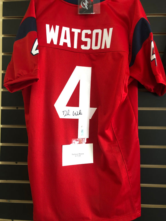 Deshawn Watson Signed Football Jersey Leaf COA