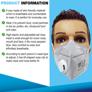 KN95 Disposable Protective Mask (5 pcs) For Adults