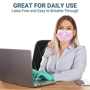 Black Face Mask Disposable Breathable Mouth Cover Black Breathable Masks For Daily Protection Air Pollution, Dust-proo (50pcs)