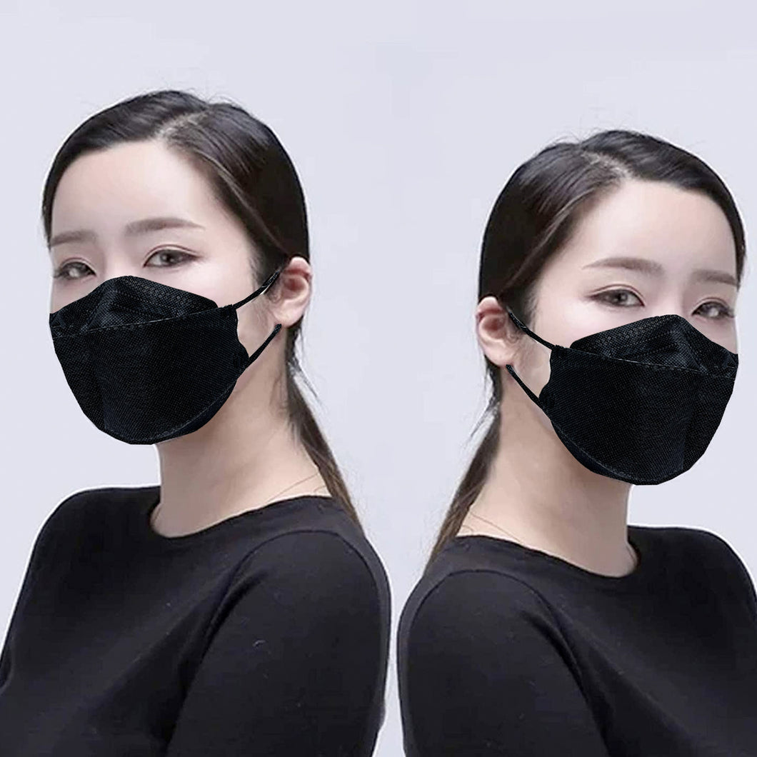 1 Pack Protective Korean Style Face Mask 10PCS/Pack Black 5 Layers