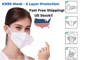 Protective Adult Face Mask 5PCS Per Pack