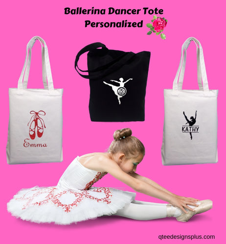 Personalized Canvas Dance Tote Bags