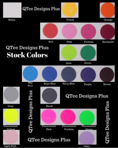 Plain color print chart
