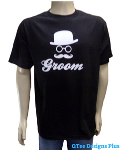 Groom Bachelor Party T-Shirt Hat with Mustache