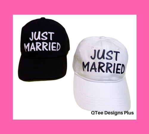Just Married Newlywed Hats