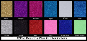 glitter colors table