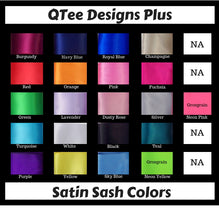 Load image into Gallery viewer, Satin sash colors