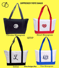 Load image into Gallery viewer, Polyester Beach Tote Bags with Zipper
