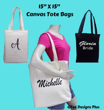 Load image into Gallery viewer, Bachelorette Bridesmaid Tote Bags  Personalized