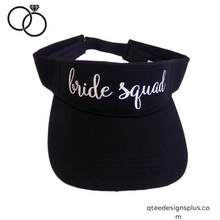 Load image into Gallery viewer,  bride squad black visor