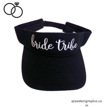 Load image into Gallery viewer, bride tribe black visor