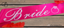 Load image into Gallery viewer, Fuchsia Bride Sash With White Print