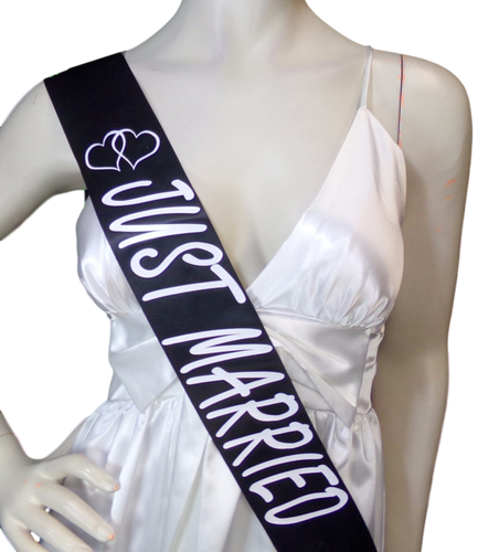 Just Married Satin Sashes