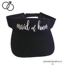 Load image into Gallery viewer, maid of honor black visor