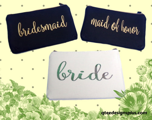 Makeup Bags With Wedding Party Titles