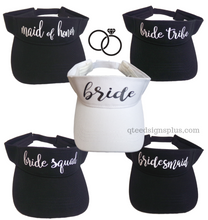 Load image into Gallery viewer, bachelorette party visors black and white