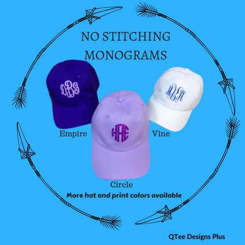 Monogrammed Bachelorette Party Hats