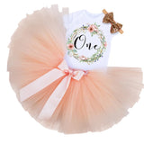 Garland - first birthday outfit in peach or pink