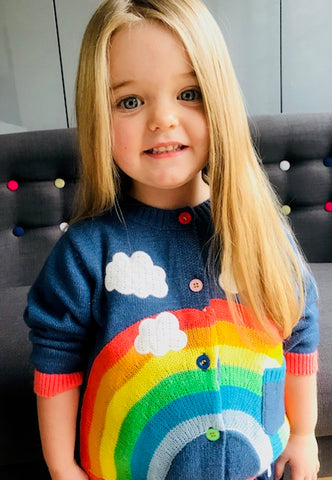 POPPY Rainbow cardigan