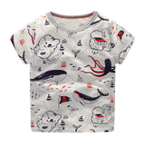 William T - whale print t-shirt