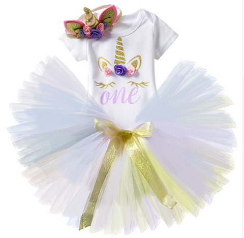 Unicorn - first birthday outfit