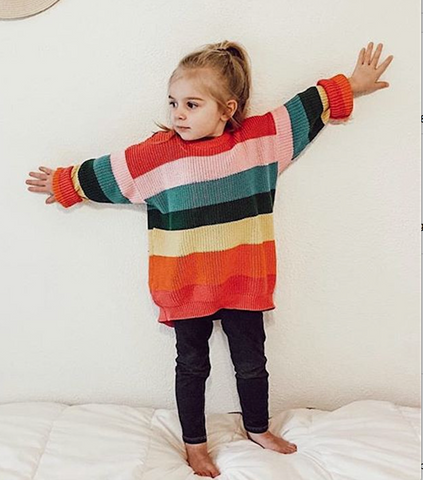Sydney - Unisex Mulit-colour Stripe Jumper
