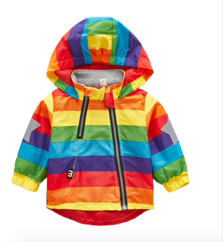 Ronnie - Rainbow showerproof coat