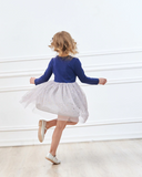 Navy Unicorn Tutu Dress