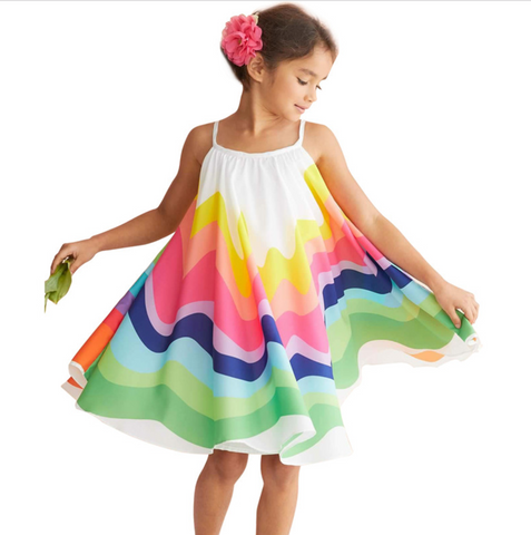 Suzie - Rainbow sun dress