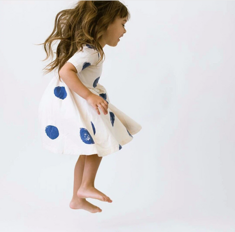 Layla - Blue spot dress