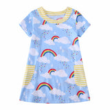 AURORA Blue Summer Rainbow Dress