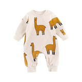 Ali - Alpaca footless baby grow